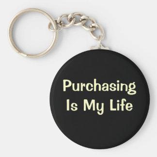 Comprar é minha vida - citações de DeMotivational Chaveiro