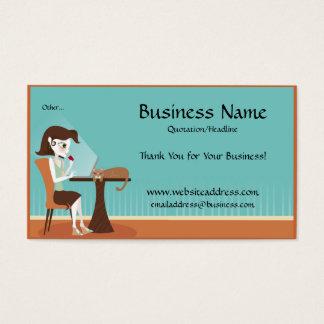 Comprar em linha/cartões de visitas do laptop cartão de visitas