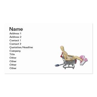 Comprar em linha em deslizadores do coelho cartão de visita