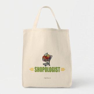 Compras na mercearia engraçadas bolsa para compras