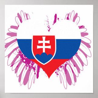 Compre a bandeira de Slovakia Pôster