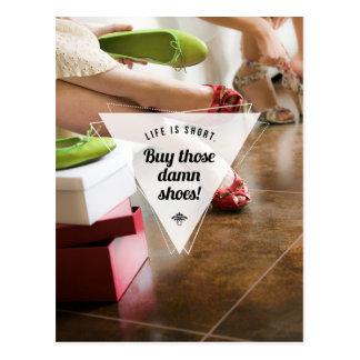 Compre aqueles calçados! Cartão inspirado