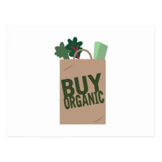 Compre orgânico cartão postal