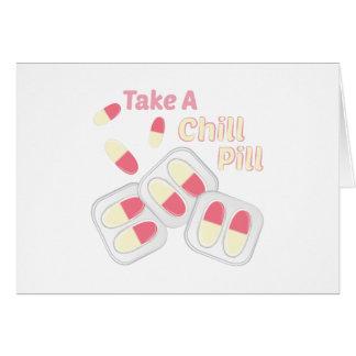 Comprimido frio cartão comemorativo