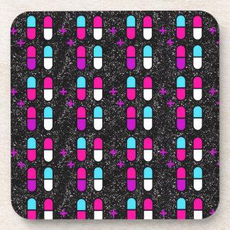 comprimidos cor-de-rosa do brilho porta-copos
