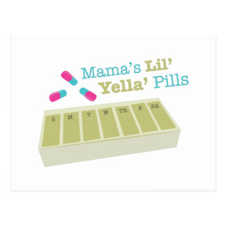 Comprimidos do yeila de Mamaslil Cartão Postal