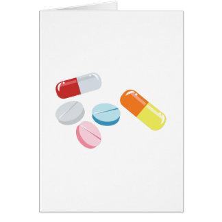 Comprimidos misturados cartão comemorativo