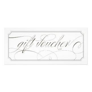 Comprovantes elegantes cinzentos franceses do 10.16 x 22.86cm panfleto