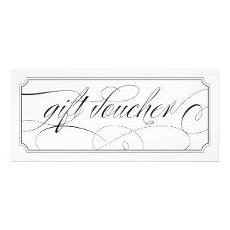 Comprovantes elegantes preto e branco do presente 10.16 x 22.86cm panfleto