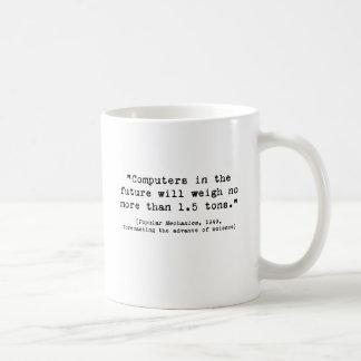 Computadores futuros caneca de café