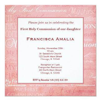 Comunhão santamente convites personalizado