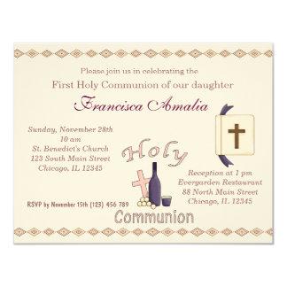 Comunhão santamente convite 10.79 x 13.97cm