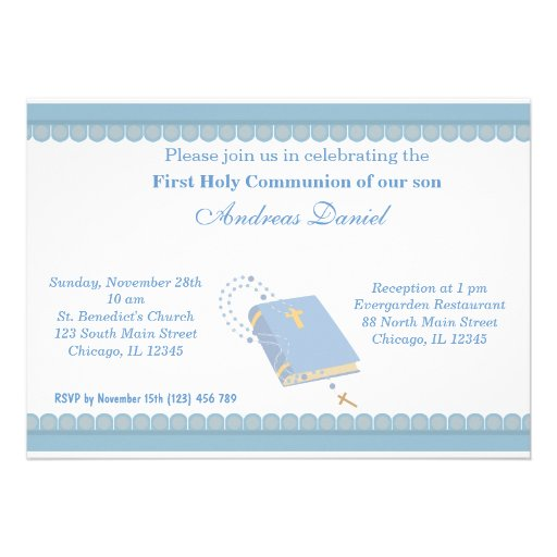 Comunhão santamente convite personalizados