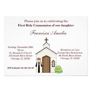Comunhão santamente convites personalizados