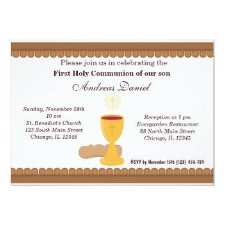 Comunhão santamente convite 12.7 x 17.78cm