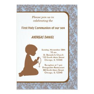 Comunhão santamente do damasco convite personalizados