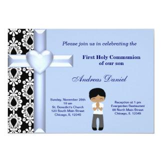 Comunhão santamente do damasco convite 12.7 x 17.78cm