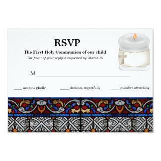 Comunhão santamente do vitral do cartão da convites