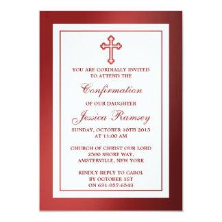 Comunhão santamente metálico ou confirmação de convite 12.7 x 17.78cm