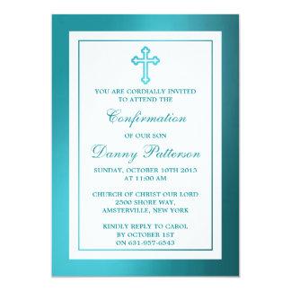 Comunhão santamente ou confirmação da cruz convite 12.7 x 17.78cm