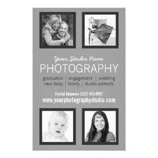 Comunicado profissional do negócio do fotógrafo panfleto