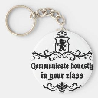 Comunique-se honesta em sua classe chaveiro