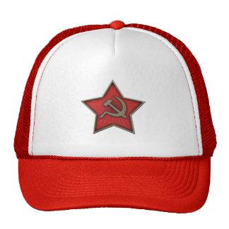 Comunista soviético do martelo e da foice da estre bone