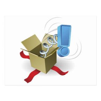 Conceito da marca de exclamação de Jack in the Box Cartão Postal