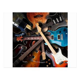 Conceito das guitarra elétricas cartão postal