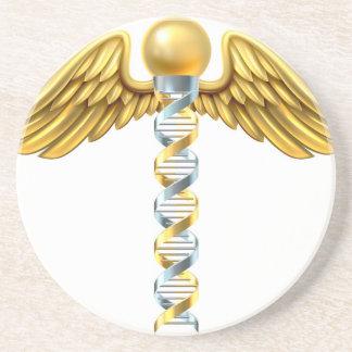 Conceito do Caduceus do ADN Porta Copos De Arenito