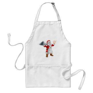 Conceito do comensal de Natal do cozinheiro do pap Avental