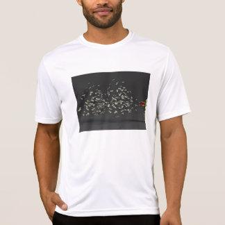 Conceito do marketing com homem de negócios camiseta