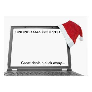 conceito em linha da compra do Natal Modelos Cartão De Visita