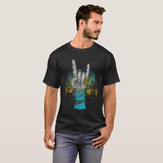 Concerto de rocha da música do zombi, camiseta