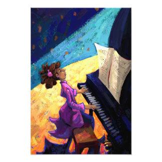 Concerto do piano impressão de foto