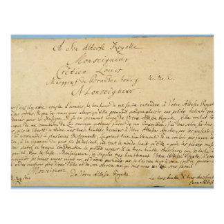 Concertos de Brandenburger da dedicação escrita à Cartão Postal