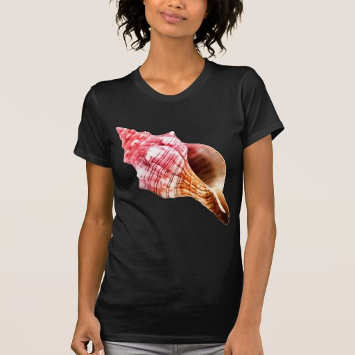 Conch cor-de-rosa Shell de Sandy Tshirt