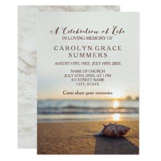 Conch na celebração da praia da vida convite 12.7 x 17.78cm