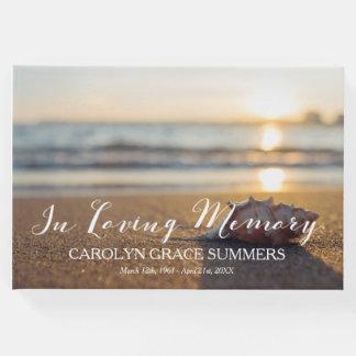 Conch na praia em memória Loving Livro De Visitas