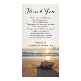 Conch no obrigado da simpatia da praia | você cartão
