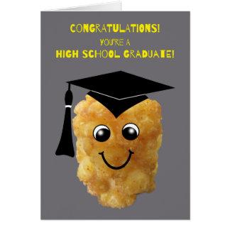 Conclusão do ensino secundário engraçada Congrats Cartão Comemorativo