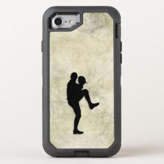 Conclusão do jarro do jogador de beisebol capa para iPhone 7 OtterBox defender