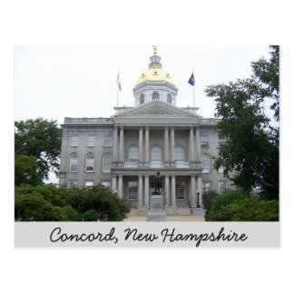 Concórdia, cartão de New Hampshire