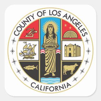 Condado de Los Angeles Adesivo Quadrado