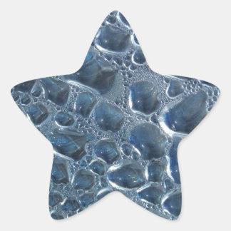 Condensação da garrafa de água adesivo em forma de estrela