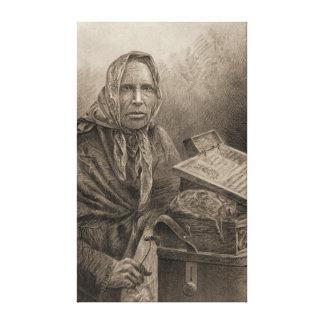 Condessa 1886 impressão de canvas esticada