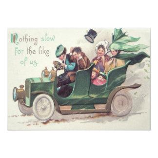 Condução de carro antigo irlandesa da família convite 12.7 x 17.78cm