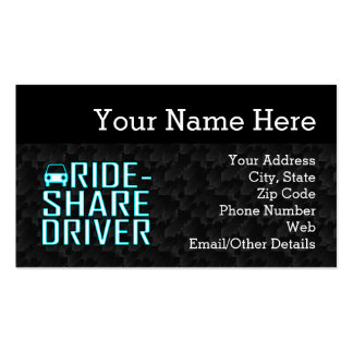 Condução de Rideshare do motorista da parte do Cartão De Visita