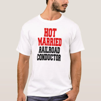 Condutor casado quente da estrada de ferro camiseta