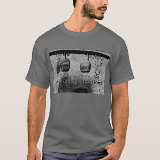Conduza a vara (preto e branco) camiseta